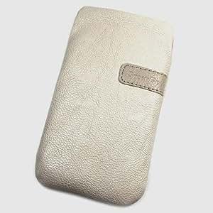 Funda de protección de piel sintética para Alcatel One Touch Idol, color beige, tamaño XXL (4,7) 3 unidades