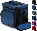 Insulated Lunch Bag for Men | Lunch Bags for Men | Lunchbox Adult | Cooler Bags Insulated | Adult Lunch Box by Ramaka Solutions | Non-Toxic Stain Resistant Nylon | 9.5 x 7.9 x 9.3 Inches Navy Blue