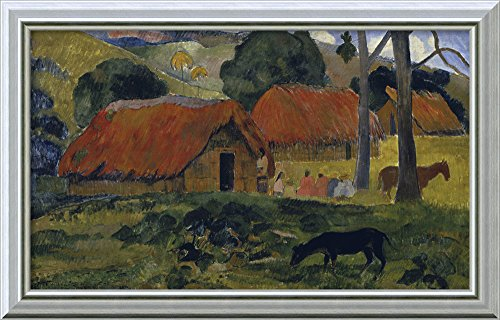 canvas-art-framed-dog-in-front-of-the-hut-le-chien-devant-la-hutte-by-paul-gauguin