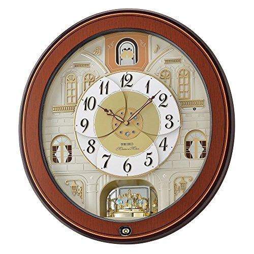 Seiko Wood Wall Clock (Model: QXM368BRH)