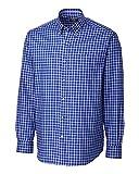 Cutter & Buck Men's Big-Tall Long Sleeve Caden Check Shirt, Ballpoint, 2X/Tall