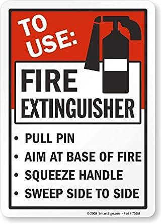 Amazon.com: A Utilizar: extintor Pull Pin lente a base de ...