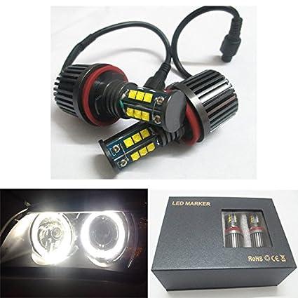 f139d730f4d5 Amazon.com  GFJMC 2x H8 120W CREE LED Halo Headlight Bulbs 6500K Angel Eyes  for BMW E60 E61 E70 E87 E90 E92 E93 X 5 Error Free  Automotive