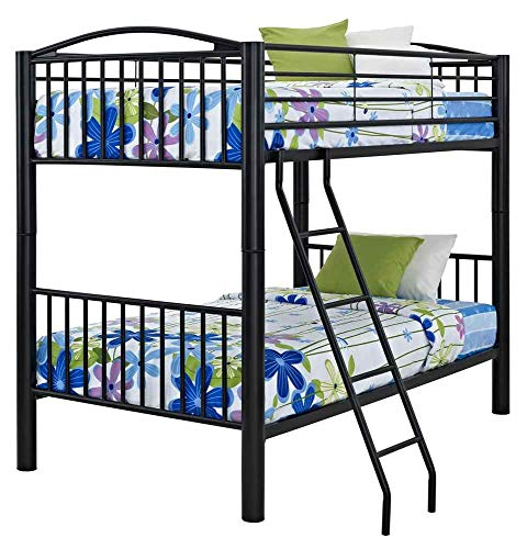 Powell 938-137 Heavy Metal Bunk Bed Full-Over-Full Black