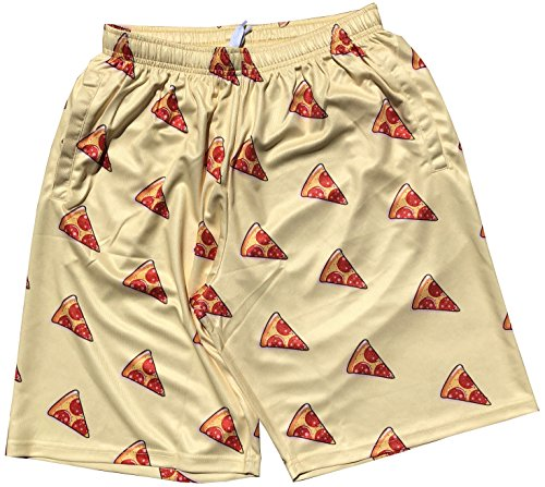 Lacrosse Shorts - Pepperoni Pizza Pattern (Youth Large)