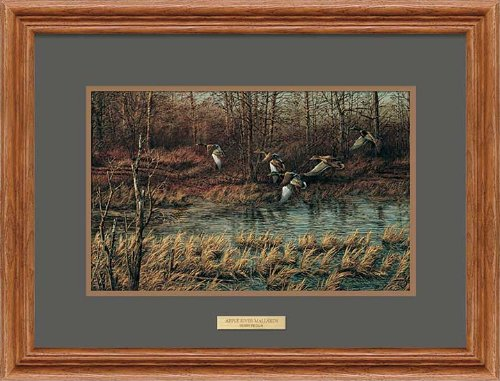 Apple River Mallards Framed Encore Print by Terry Redlin - Mallards By Terry