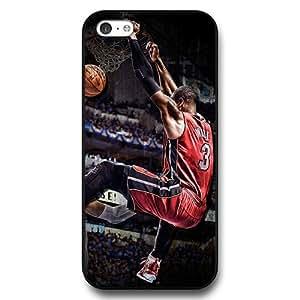 Onelee (TM) - Customized Personalized Black Hard Plastic iPhone 5c Case, NBA Superstar Miami Heat Dwyane Wade iPhone 5C case, Only Fit iPhone 5C Case