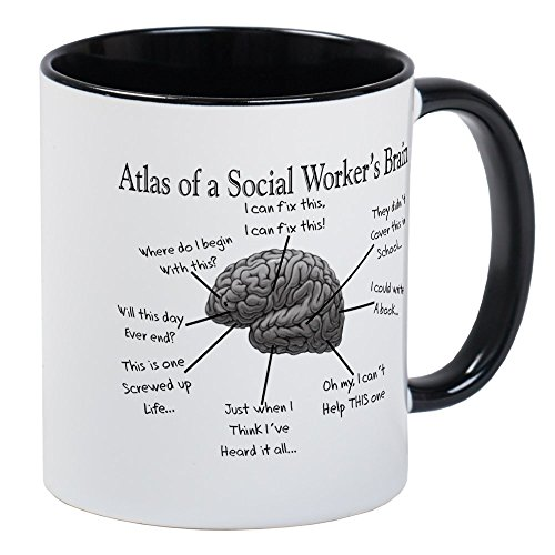 CafePress Atlas Of A Social Workers Brain Mugs Unique Coffee Mug, Coffee Cup