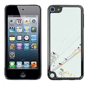For Apple iPod Touch 5 Case , Watercolor Minimalist Pastel - Diseño Patrón Teléfono Caso Cubierta Case Bumper Duro Protección Case Cover Funda