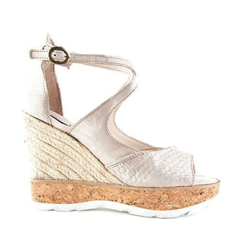 Felmini - Zapatos para Mujer - Enamorarse com Venus 9435 - Peep Toes zapatos - Cuero Genuino - Beige - 0 EU Size Beige