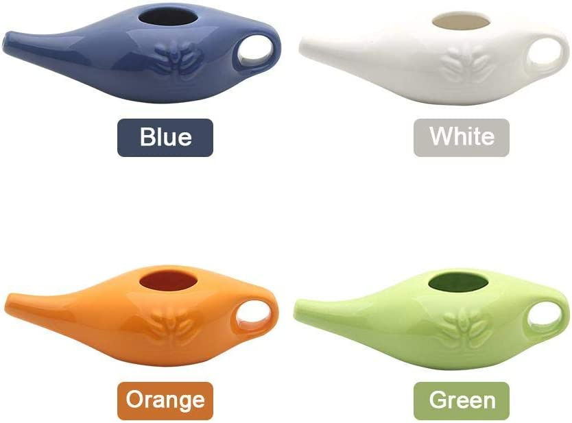 Neti Pot 250 ml de cer/ámica Neti Pot Lavado de nariz C/ómoda boquilla para limpieza nasal