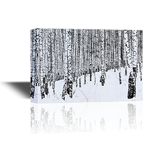 Winter Landscape with Birch Trees in the Snow Gallery