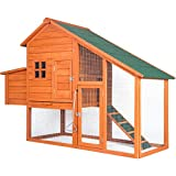Purlove Pet Rabbit Hutch Wooden House Chicken Coop for Small Animals (Rabbit Hutch #5)