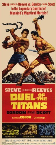 Duel of the Titans POSTER Movie (14 x 36 Inches - 36cm x 92cm) (1963) (Insert Style A) (Volpe Steve)