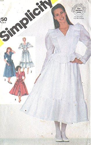 80s prairie dress - 2