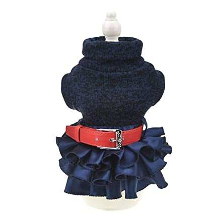 709b86e21c251 FLAdorepet Winter Warm Dog Sweater Dress Tutu Skirt Pet Cat Knitted Clothes  for Small Medium Dog Girls