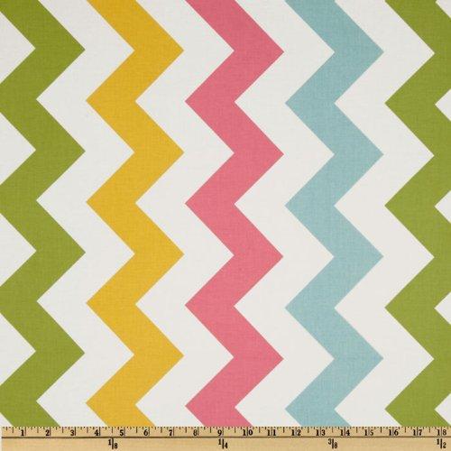 Riley Blake Designs Riley Blake Chevron Large Pink/Girl Fabric by The Yard