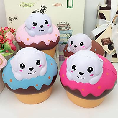 Nuofeng Jumbo Slow Rising Squishies Cupcake Squishy Cream Scented Charms Kawaii Squeeze Toys (Cupcake): Sports & Outdoors