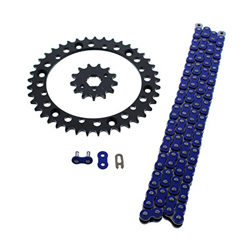 Sprocket O-ring Chain - Blue Non O Ring Chain & Sprocket Black 13/40 98L 1989-04 Yamaha YFM 350 Warrior
