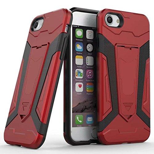 JIALUN-carcasa de telefono Cubierta trasera extraíble con la caja del teléfono móvil para IPhone 7 más ( Color : Green ) Red
