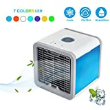 ACMEDE Personal Air Cooler,3 in 1 Portable Air Conditioner with Humidifier and Purifier USB Port Desktop Mini Fan Air Personal Space Cooler for Office Home Outdoor Travel