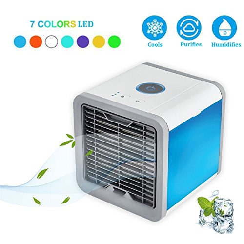 ACMEDE Personal Air Cooler,Portable Air Conditioner with Humidifier and Purifier USB Port Desktop Mini Fan Air Personal Space Cooler for Office Home Outdoor Travel by ACMEDE