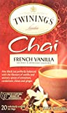 Twinings of London French Vanilla Chai Tea Bags 1.41 Ounces - 1 Box