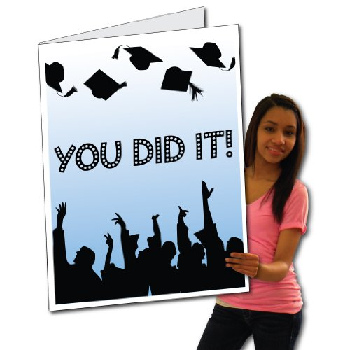 VictoryStore Jumbo Greeting Cards: Giant Graduation Card (Cap and tassel toss) 2' x 3' card with envelope