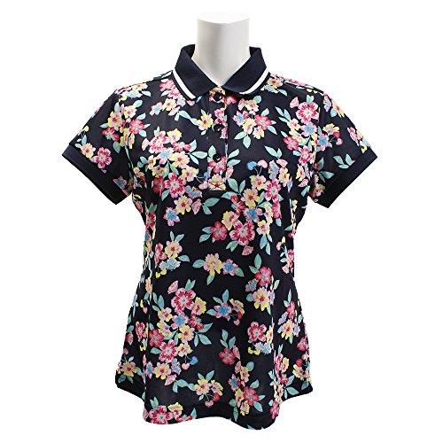 ビバハート(ビバハート) BackMeshフラワーot半袖ポロシャツ 012-27343-098 (ネイビー/L/Lady's)