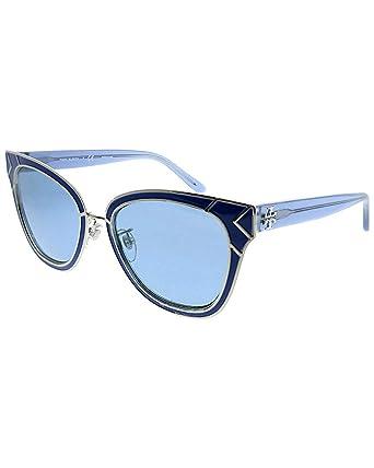 9e6ffc16b1a0d Amazon.com  Tory Burch Women s 0TY6061 53mm Blue Solid Blue One Size ...