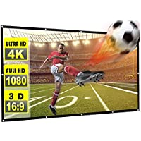 Rhungift 120 inch Projector Screen 16:9 HD Outdoor Portable Foldable Anti-Crease Projection Screen Support Double Sided Projection