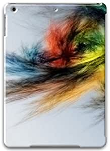 Apple iPad Air Case, Apple iPad Air 3D Cases Hard Shell White Cover Skin Cases Senses Fractals