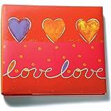 Amanda Blue 12-Inch by 12-Inch Print Postbound Album, Love/Red