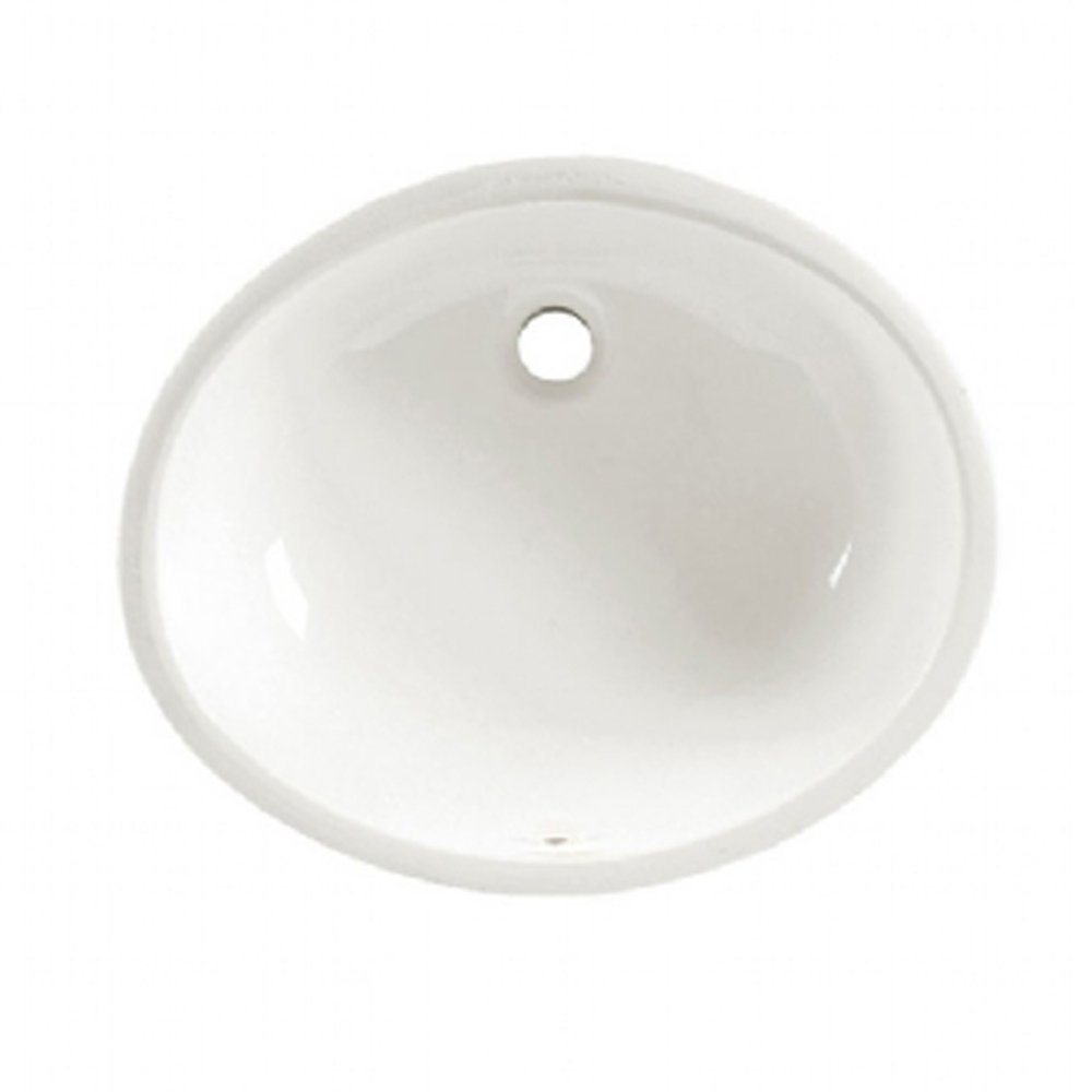 American Standard 0495.300.020 Ovalyn 17-1/8 by 14-1/8-Inch Under Counter Lavatory Sink, White