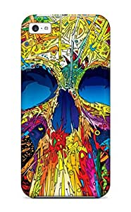 Hot Faddish Phone Multi Color Skull Case For Iphone 5c / Perfect Case Cover 1794541K63119138
