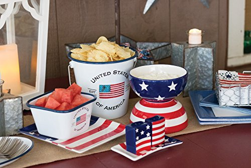 USA Flag 5 x 5-Inches Boston International Enamelware Large Mug