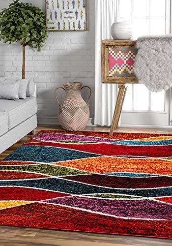 Well Woven Sephra Modern Geometric Stripe Pattern 8x11 (7'10'' x 10'6