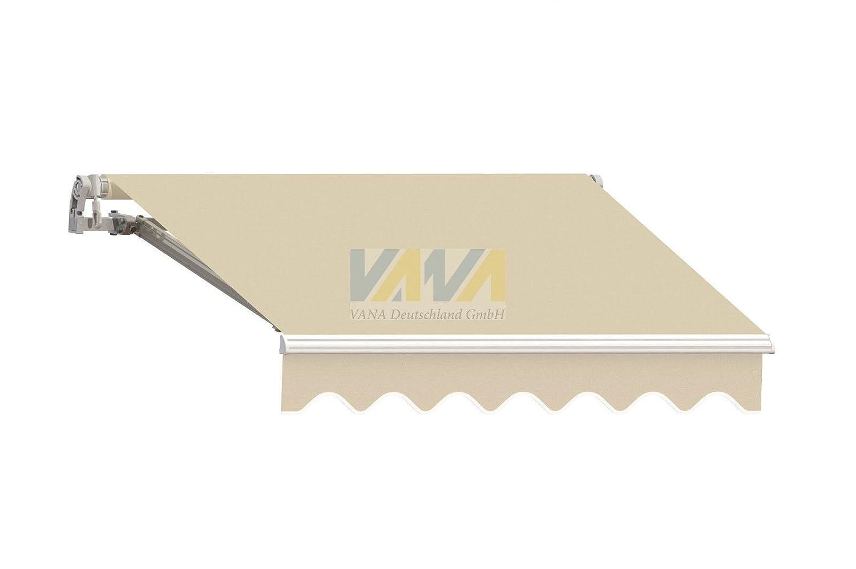 Markisenstoff  Markisenbespannung Ersatzstoff Volant 3 x 2,5 m SPD001 beige