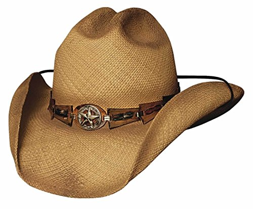 Montecarlo Bullhide Hats STAR CENTRAL Genuine Panama Straw Cowboy Western Hat (Small) from MONTECARLO HAT CO. -BULL RIDER
