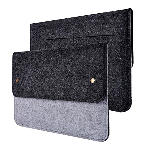 Happy Hours - 13 Inch Ultra Thin Eco Felt Bag Cover for Apple MacBook iPad Air / Premium Slim Netbook, Laptop, Notebook, Computer Protective Sleeve (Eco Carrier)