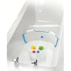 NEUF BabyDam Eau du bain Barrière baignoire pour bébé Blanc / Bleu