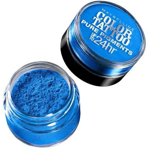 Maybelline New York Eye Studio Color Tattoo Pure Pigments Eye Shadow - Brash Blue (Pack of 2)