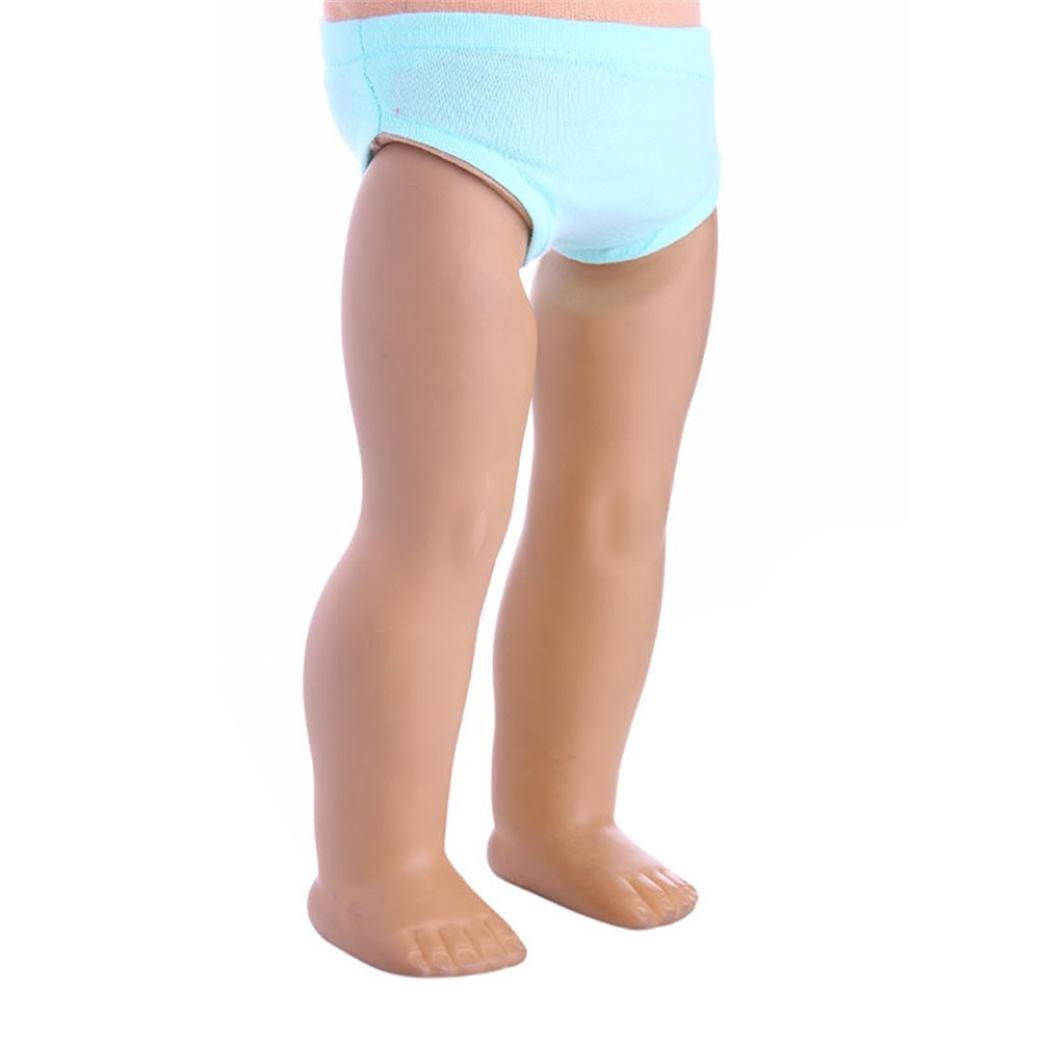 PrettyW Doll Clothes for 18 Inch Dolls - Underpants Underwears Panty Knickers Accessories for 18 inch American Girl Dolls (Light blue)
