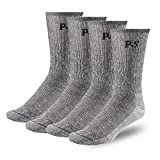 People Socks 4pairs Men and Women Merino Wool Socks Charcoal Black Large Made in USA