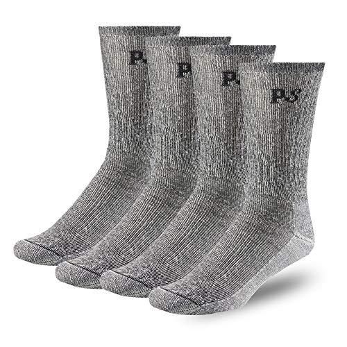 People Socks 4pairs Men and Women Merino Wool Socks Charcoal Black Large Made in USA