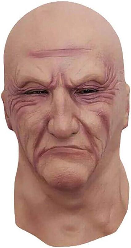 Máscara de hombre realista Viejo disfraz masculino Bruiser de ...