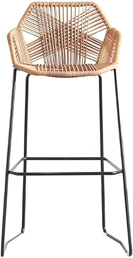 bar chaise en osier de rotin