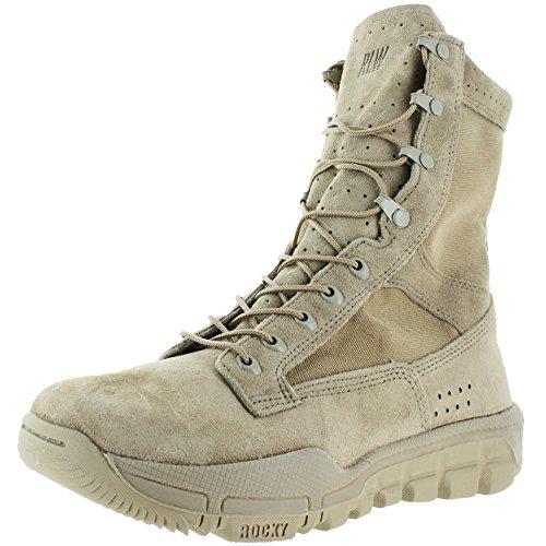 Steinete 8 Menns Lette Militærstøvler Ørken Brunfarge