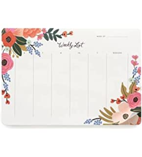 Amazon.com: Rifle Paper Co. Pink Floral Deskpad: Home & Kitchen