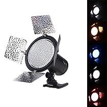 YONGNUO YN216 3200K-5500K LED Video Light Camera Shoot with 4 Color Plates for Canon Nikon DSLR Camera